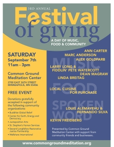 Poster for Common Ground's 3rd Annual Festival of Giving